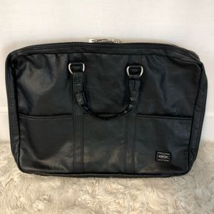 Yoshida Porter Black Freestyle Briefcase